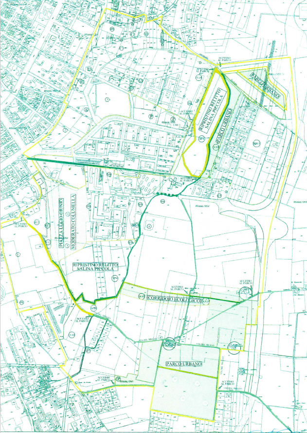 Cartografia originale del parco